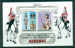 Bahamas 1978 QEII Coronation, 25th Anniversary, Royalty MS MUH - Bahamas (1973-...)