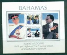 Bahamas 1981 Charles & Diana Royal Wedding MS MUH Lot81932 - Bahamas (1973-...)