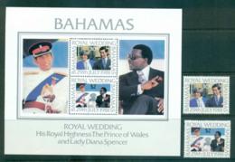 Bahamas 1981 Charles & Diana Wedding + MS MUH Lot55218 - Bahamas (1973-...)