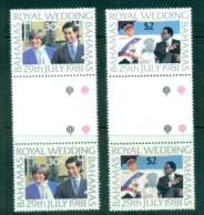 Bahamas 1981 Charles & Diana Wedding Gutter Pairs MUH Lot44778 - Bahamas (1973-...)