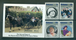 Bahamas 1985 Queen Mother 85th Birthday + MS MUH Lot55220 - Bahamas (1973-...)