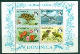 Dominica 1970 Flora & Fauna, Bird, Flower MS MUH - Dominica (1978-...)