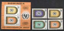 Dominica 1971 UNICEF 25th Anniv. + MS Muh - Dominica (1978-...)