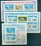 Dominica 1974 Centenary Of UPU 3xMS MUH Lot76369 - Dominica (1978-...)