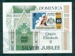 Dominica 1977 QEII Silver Jubilee MS FU - Dominica (1978-...)