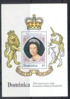 Dominica 1978 QEII Coronation 25th Anniversary MS MUH - Dominica (1978-...)