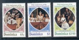 Dominica 1978 QEII Coronation 25th Anniversary MUH - Dominica (1978-...)