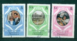 Dominica 1981 Charles & Diana Wedding (3) FU Lot44938 - Dominica (1978-...)