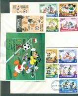 Dominica 1982 Disney, Donald Duck, World Cup Espana '82 3x FDC Lot78919 - Dominica (1978-...)