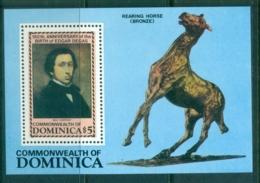 Dominica 1984 Degas, Bronze Horse MS MUH - Dominica (1978-...)