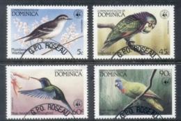 Dominica 1984 WWF  Birds Of The Caribbean FU - Dominica (1978-...)