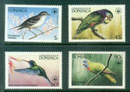 Dominica 1984 WWF , Local Birds MUH - Dominica (1978-...)