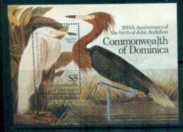Dominica 1985 Audubon Birds MS MUH - Dominica (1978-...)