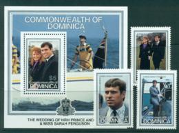 Dominica 1986 Andrew & Sarah Wedding MUH Lot30226 - Dominica (1978-...)
