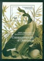 Dominica 1986 Audubon Birds MS MUH - Dominica (1978-...)
