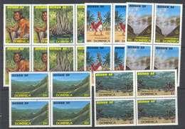 Dominica 1988 Tourism Blocks MUH Lot7806 - Dominica (1978-...)