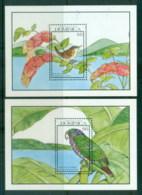 Dominica 1990 Birds, 2x MS MUH - Dominica (1978-...)