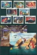 Dominica 1991 Disney,The Little Mermaid +2x MS FU Lot80040 - Dominica (1978-...)