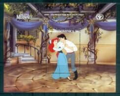 Dominica 1991 Disney,The Little Mermaid, Dancing MS MUH Lot79026 - Dominica (1978-...)