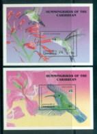 Dominica 1992 Humming Birds, 2x MS MUH - Dominica (1978-...)