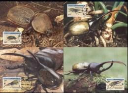 Dominica 1994 WWF Hercules Beetle Maxicards - Dominica (1978-...)