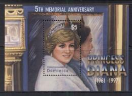 Dominica 2003 Princess Diana In Memoriam 5th Anniv. MS MUH - Dominica (1978-...)