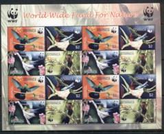 Dominica 2005 WWF Birds, Caribs, Sheetlet MUH - Dominica (1978-...)