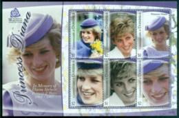 Dominica 2007 Princess Diana In Memoriam, 10th Anniv., MS MUH - Dominica (1978-...)