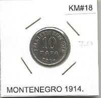 Gh2 Montenegro 10 Para 1914. KM#18 - Munten