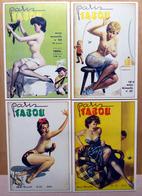 "EROTISME FEMININ  : "" PARIS TABOU "" - Lot De 4 Cartes Postales - Pin-Ups"