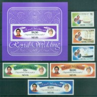 Nevis 1981 Charles & Diana Royal Wedding + MS MUH Lot81888 - St.Kitts And Nevis ( 1983-...)