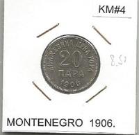 Gh2 Montenegro 20 Para 1906. KM#4 - Munten