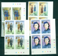 Nevis 1985 Girl Guides IMPERF Cyl. Traffic Light Blks 4 MUH Lot68599 - St.Kitts And Nevis ( 1983-...)