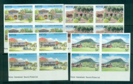 Nevis 1985 Plantation Houses IMPERF Blks 4 MUH Lot68588 - St.Kitts And Nevis ( 1983-...)