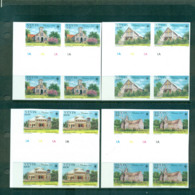 Nevis 1985 Xmas IMPERF Gutter Cyl. Blk 4 MUH Lot68490 - St.Kitts And Nevis ( 1983-...)