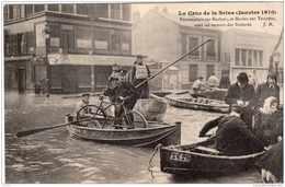 LA CRUE DE LA SEINE PONTONNIERS ET MARINS SUR YOUYOU VONT AU SECOURS DES SINISTRES TBE - Überschwemmung 1910
