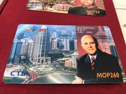 MACAU 1999 SPECIAL EDITION OF THE MACAU PAST GOVERNERS PORTRAITS PHONE, INTERNET & EASY CALL CARDS SET RRRRRARE - Macau