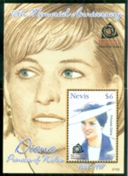 Nevis 2007 Princess Diana In Memoriam, 10th Anniv., Polished & Pretty MS MUH - St.Kitts And Nevis ( 1983-...)