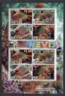 Nevis 2007 WWF Rainbow Parrotfish Sheetlet MUH - St.Kitts And Nevis ( 1983-...)