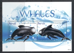 Nevis 2009 Whales MS MUH - St.Kitts And Nevis ( 1983-...)