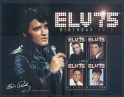Nevis 2010 Elvis Presley 75th Birthday MS MUH - St.Kitts And Nevis ( 1983-...)