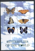 Nevis 2011 Insects, Butterflies Of The World Ms MUH - St.Kitts And Nevis ( 1983-...)