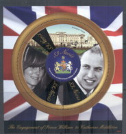 Nevis 2011 Royal Engagement William & Kate #1033 $3 MS MUH - St.Kitts And Nevis ( 1983-...)