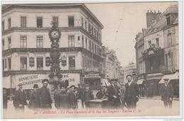 AMIENS LA PLACE GAMBETTA ET LA RUE DES SERGENTS 1916 TBE - Amiens