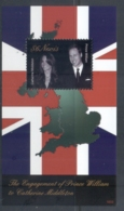Nevis 2011 Royal Engagement William & Kate #1033 $6 MS MUH - St.Kitts And Nevis ( 1983-...)