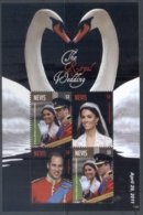 Nevis 2011 Royal Wedding William & Kate #1125 $3 MS MUH - St.Kitts And Nevis ( 1983-...)