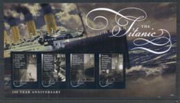 Nevis 2012 Titanic 100 Years MS MUH - St.Kitts And Nevis ( 1983-...)