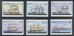 St Kitts 1980 Ships MUH - St.Kitts And Nevis ( 1983-...)