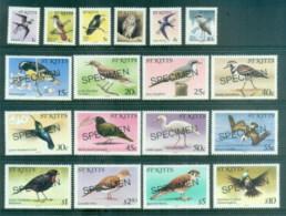 St Kitts 1981 Pictorials Birds SPECIMEN MUH - St.Kitts And Nevis ( 1983-...)