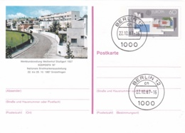 Germany Ganzsache/postal Stationary Europa CEPT W/print Südposta 87 Used Berlin 1987  (G96-25) - Private Postcards - Used